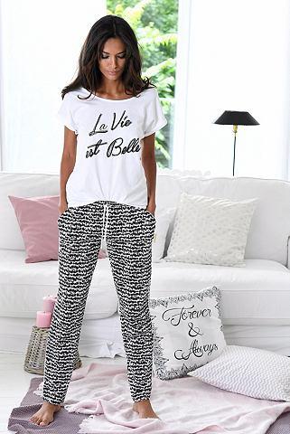 Bodywear пижама в черно-белый »L...