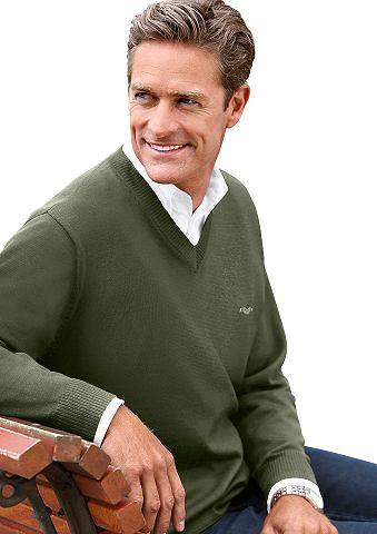 Пуловер с V-образным вырезом в edlen F...