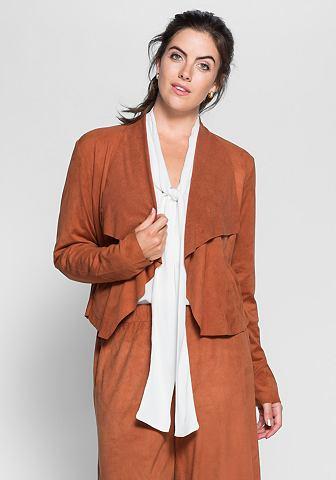 Пиджак в имитация замша