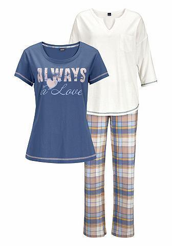 Пижама (3 единицы с клетчатый брюки