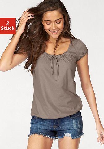 Блуза (2 единицы с сморщенный вырез &r...