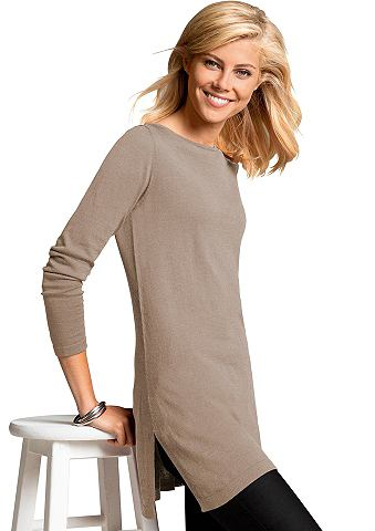 Пуловер длинный с komfortablen Seitens...