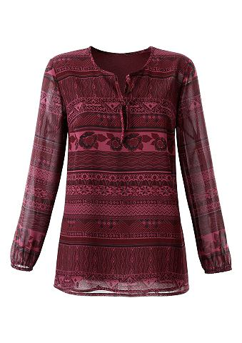 Блуза из прозрачная Georgette