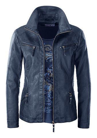 Пиджак из искусственной кожы в мягкий ...