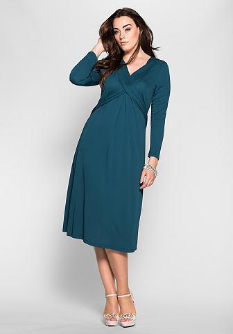 Платье из джерси с Wickeleffekt