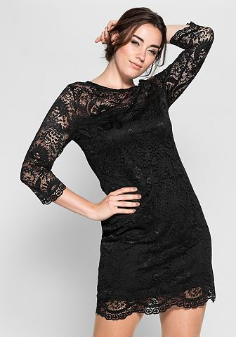 Кружевное платье с прозрачный