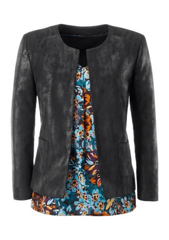 Пиджак с сдержанный schimmerndem Folie...