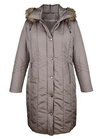 Пальто короткое с съемный капюшон