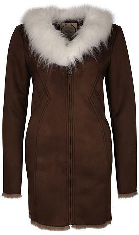 Пальто с съемный воротник