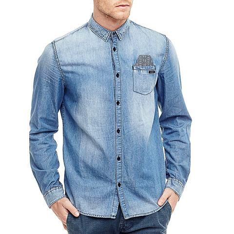 Рубашка джинсовая карман