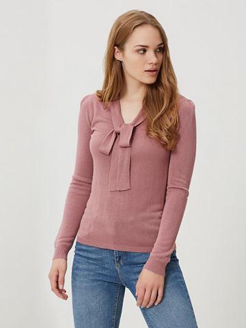 Schleifen- блузка с длинным рукавом