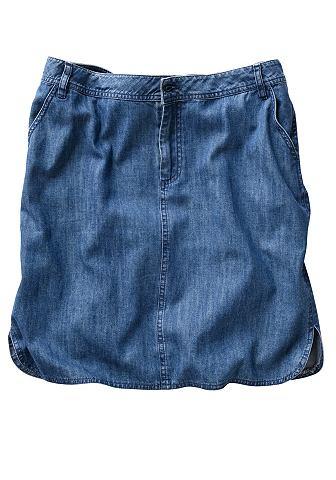 Юбка в имитация джинсa