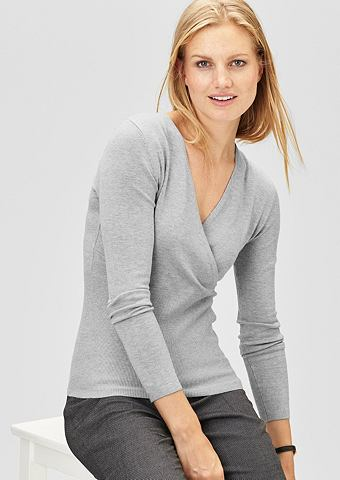Пуловер с Cache Coeur-Ausschnitt