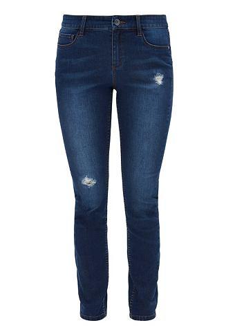 Skinny: джинсы потертые с Destroyes