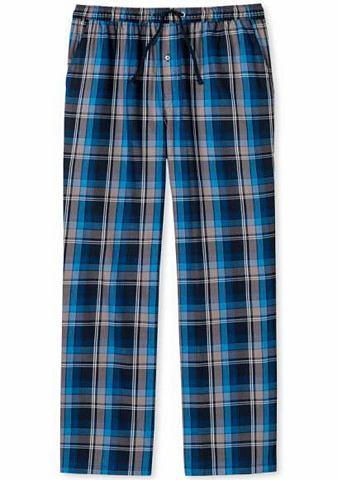 Длиный брюки в клетчатый дизайн - брюк...