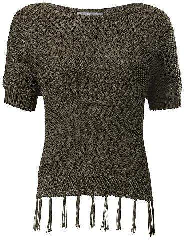 Пуловер с бахрома