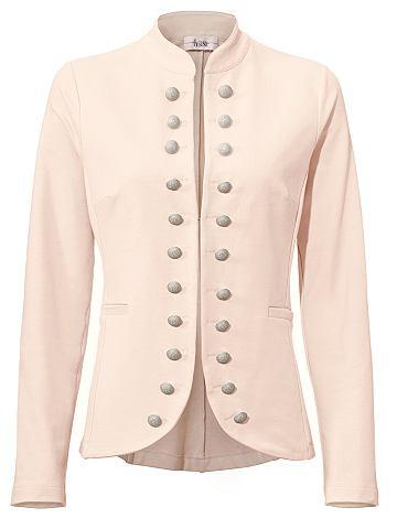 Пиджак трикотажный с воротник стойка