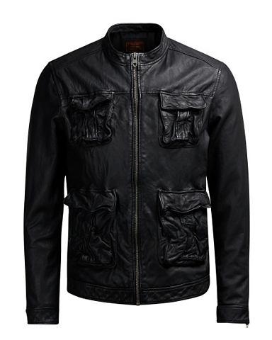 Jack & Jones кожаные куртка кожана...