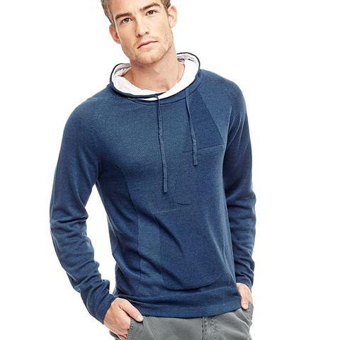 Пуловер с капюшон