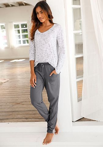 Basic пижама с grob meliertem кофта