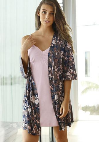 Bodywear кимоно халат с цветочным узор...
