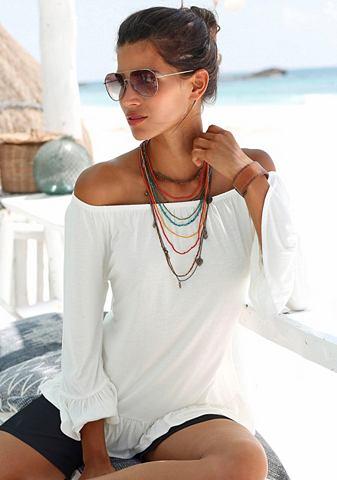 Пляжный блуза в стиле кармен