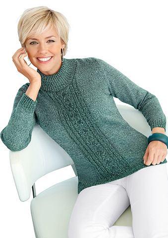 Пуловер с классические стежка