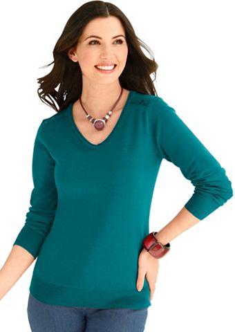 Пуловер с декоративные пуговицы