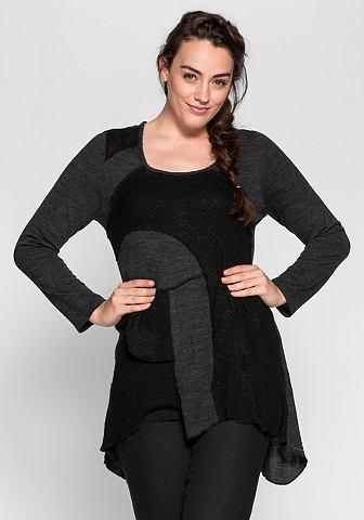 Пуловер длинный в Patch-Optik