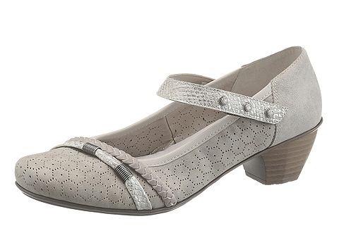 Туфли на ремешке с пряжкой с Metallic-Highlights