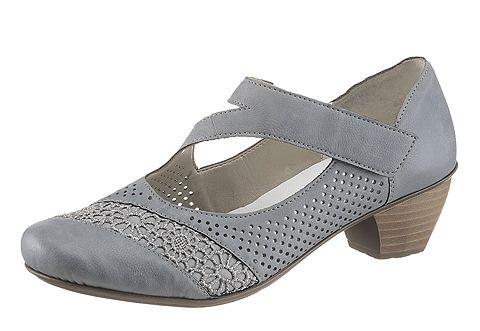 Туфли на ремешке с пряжкой с перфорирование