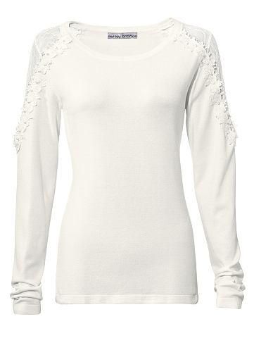 Пуловер с кружевом с Blütenapplik...
