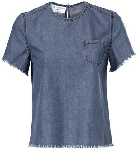 Джинсовая блузка с бахрома