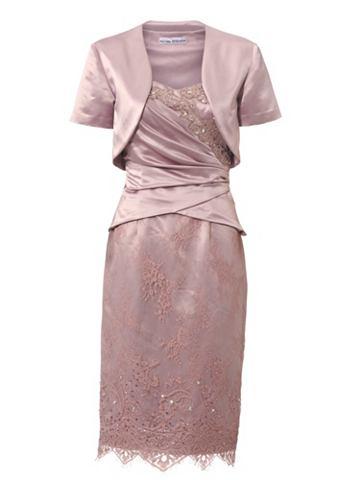 Платье из двух частей с кружева и с па...