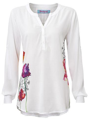 Блуза с halber пуговицы