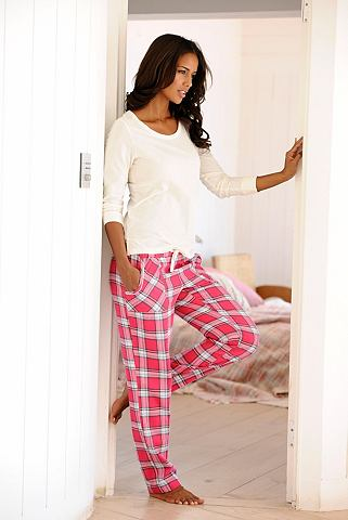 Пижама с клетчатый брюки в Flanellqual...