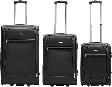 Текстильный чемодан комплект с 2 колес...