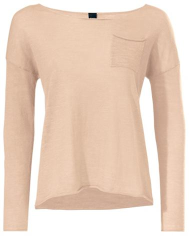 Пуловер с круглым вырезом с футболка