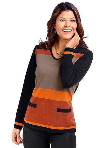 Пуловер с Streifen-Muster в спереди