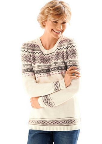 CLASSIC BASICS Пуловер с Norweger-Muster