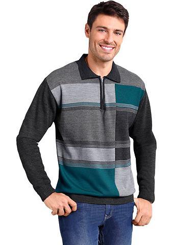 Пуловер с geripptem воротник поло