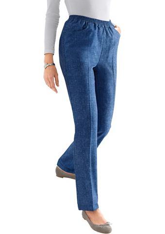 Брюки в имитация джинсовой ткани