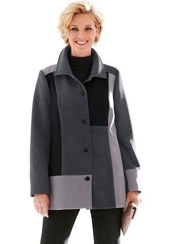 Пальто в модный Patchwork-Optik