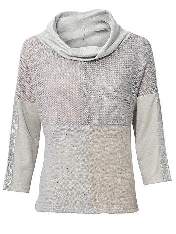 Вязаный пуловер с Effektgarn