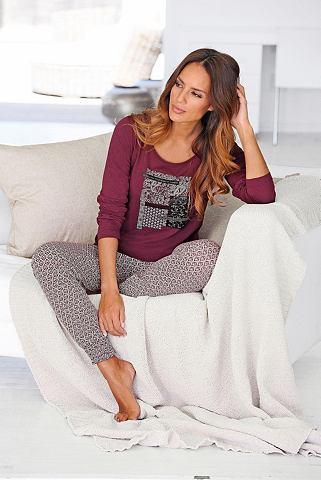 Bodywear модный пижама с gemusterter б...