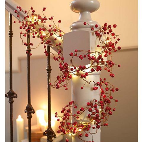 LED гирлянда с roten Beeren