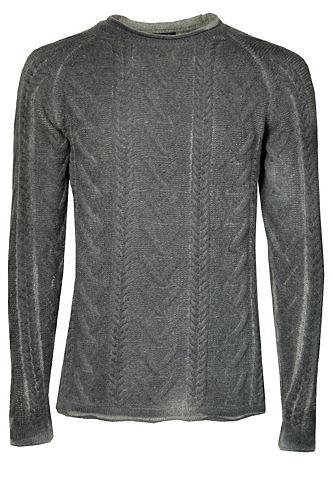 Пуловер шерстяной с стежка