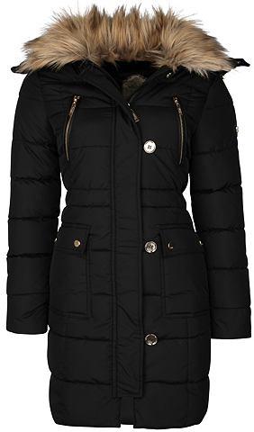 Пальто с съемный капюшон + воротник
