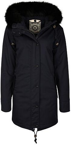 Куртка парка с съемный воротник