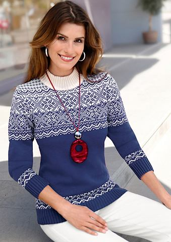 Пуловер с aktuellem норвежский принт